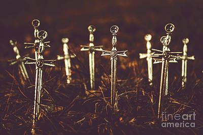 Cemetery Photograph - Crusaders Cemetery by Jorgo Photography - Wall Art Gallery