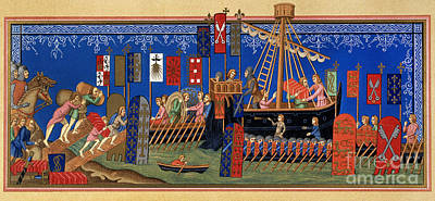 14th Century Painting - Crusades 14th Century by Granger