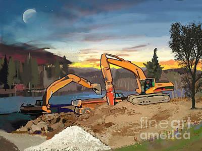 Bulldozer Painting - Crush And Load by Brad Burns