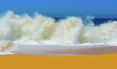 Photograph - Crushing Wave On A Exotic Sand Beach Art by Wall Art Prints