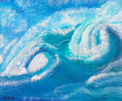 Painting - Crushing Wave by Valerie Ornstein