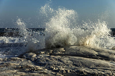 Photograph - Crushing Waves  by Mike Santis