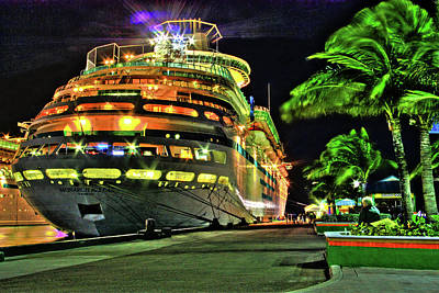 Photograph - Crusin Nighttime by Dawn Currie