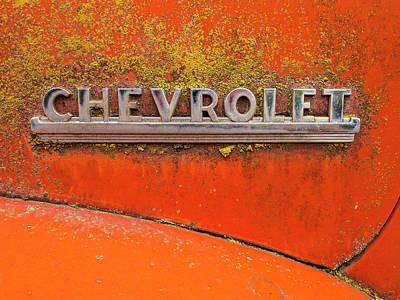 Photograph - Crusty Chevy Lesions by Jean Noren