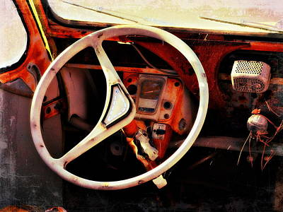 Photograph - Crusty Citroen Interior by Glenn McCarthy Art and Photography