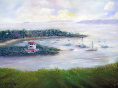 Painting - Cruz Bay Remembered by Loretta Luglio