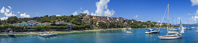 Caribbean House Photograph - Cruz Bay, St. John by Adam Romanowicz