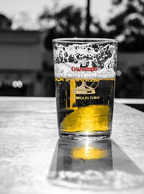 Frosty Mug Photograph - Cruzcampo Beer by Andrea Mazzocchetti