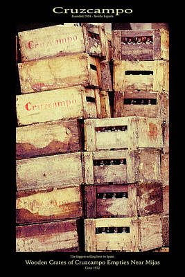 Photograph - Cruzcampo Beer In Wooden Cases Poster by Robert J Sadler