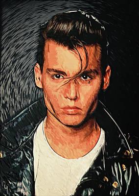Johnny Depp Digital Art - Cry Baby by Zapista