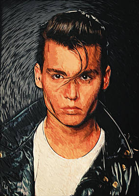 Johnny Depp Digital Art - Cry Baby by Taylan Apukovska
