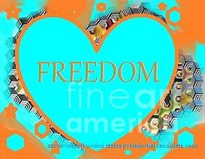 Painting - Cry Freedom  Tbmonkeytwits by Catherine Lott