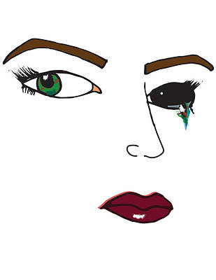 Crying Drawing - Cry Your Eye Out by Alana Gillihan