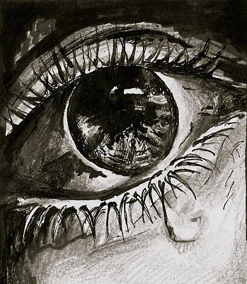 Tears Drawing - Crying  by Ani Koch