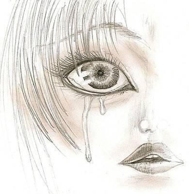 Crying Eye Art Print by Darryl Redfern