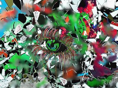 Abstract Sights Mixed Media - Crying Eye by Ricardo Mester