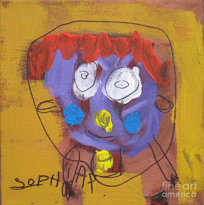 Painting - Crying Girl 2008. by Sophia Pontet