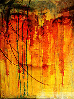 Digital Art - Crying Look by Andrea Barbieri