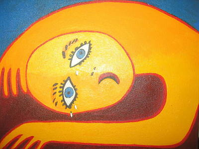 Crying  Over You Art Print by Sandra McHugh