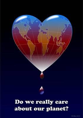 Crying Planet Original by Arie Van der Wijst
