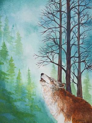 Tuscarora Painting - Crying Wolf by Owisokon Lahache