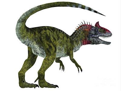 Aggressive Digital Art - Cryolophosaurus Dinosaur Tail by Corey Ford