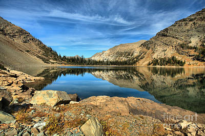 Photograph - Crypt Lake Blue And Gold by Adam Jewell