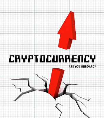 Digital Art - Cryptocurrency ..... Are You Onboard? by Daniel Hagerman