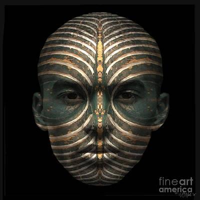Incision Digital Art - Cryptofacia 89 by Walter Oliver Neal