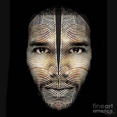 Incision Digital Art - Cryptofacia 90 by Walter Oliver Neal