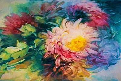 Digital Art - Chrysanthemums by Charmaine Zoe