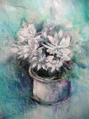 Art Print featuring the painting Crysanthymums by Chris Hobel