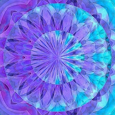 Crystal Aurora Borealis Art Print