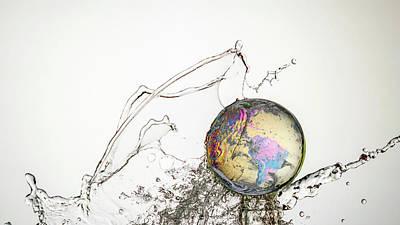 Crystal Ball Earth 12 Print by Mark A Hunter