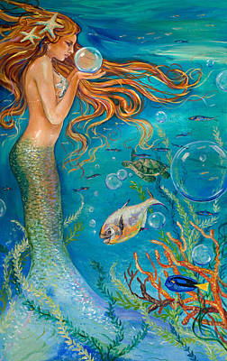 Crystal Ball Art Print by Linda Olsen