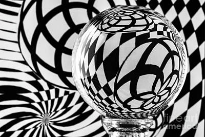 Photograph - Crystal Ball Op Art 1 by Steve Purnell