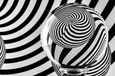 Photograph - Crystal Ball Op Art 10 by Steve Purnell