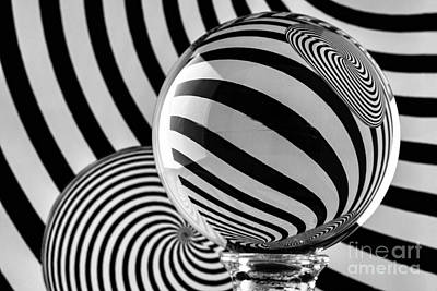 Photograph - Crystal Ball Op Art 11 by Steve Purnell