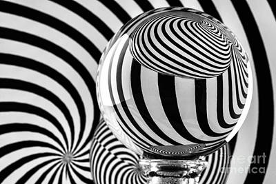 Photograph - Crystal Ball Op Art 12 by Steve Purnell
