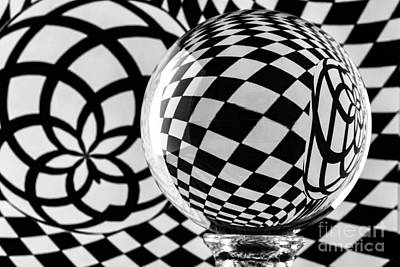 Photograph - Crystal Ball Op Art 2 by Steve Purnell