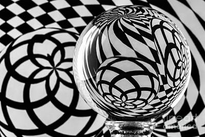 Photograph - Crystal Ball Op Art 3 by Steve Purnell