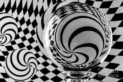 Photograph - Crystal Ball Op Art 4 by Steve Purnell