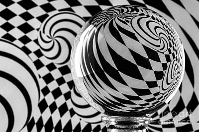 Photograph - Crystal Ball Op Art 5 by Steve Purnell
