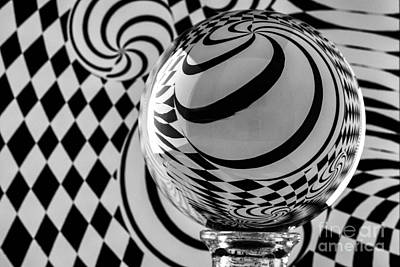 Photograph - Crystal Ball Op Art 6 by Steve Purnell