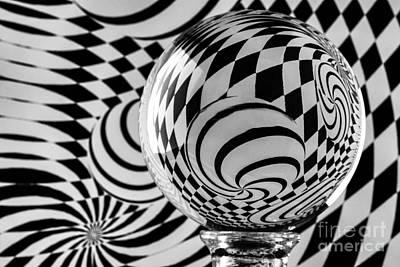 Photograph - Crystal Ball Op Art 7 by Steve Purnell