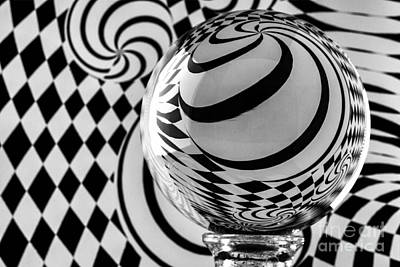 Photograph - Crystal Ball Op Art 8 by Steve Purnell