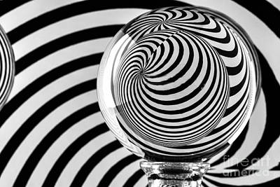 Photograph - Crystal Ball Op Art 9 by Steve Purnell