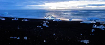 Print featuring the photograph Crystal Beach Iceland by Brad Scott
