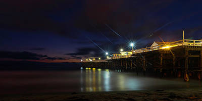 Photograph - Crystal Beach Pier Blue Hour  by James Sage