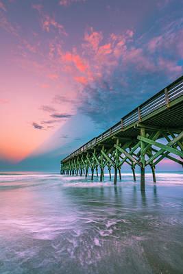 Photograph - Crystal Beach Pier Sunset In North Carolina by Ranjay Mitra